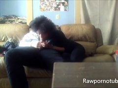 Amateur Black Blowjob With Oral Creampie