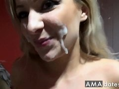 Superhot German chick fucking in toilet