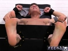 Gay sex old men guy Sebastian Tied Up & Tickled