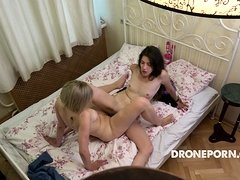 Czech Teen Lesbians Having Fun at hotel room.