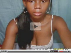 Hot Black Girl Body on Webcam