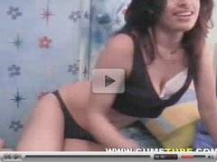 Very Cute Teen Bends Over on Webcam
