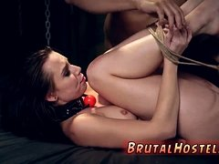 Clear gag bondage and extreme hot party firm baps and