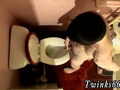Pissing guys mouth gay Unloading In The Toilet Bowl