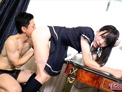 Japan shemale anal sex with cumshot