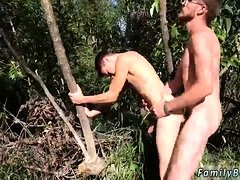 Dad swallows young boy cum gay first time Outdoor Pitstop