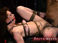 Dirty feet cleaning slave and brutal bondage Sexy