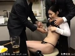 Japanese threesome with fingering and cocksucking
