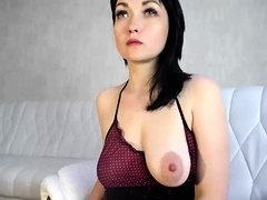 Aubrey shows off her boobs and nipples