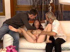 Old hairy grandma gang bang Unexpected practice with an