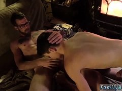 Mature gay porn video xxx Dad Family Cabin Retreat
