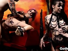 Nikki Hearts, Anna Bell Peaks and Leigh Raven in Hell!