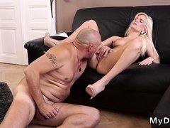 Old man Horny platinum-blonde wants to attempt someone