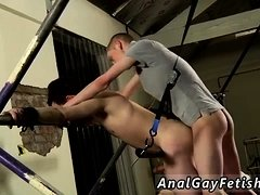 Suit bondage gay and men first time The man commences off