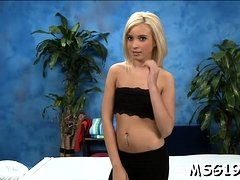 Horny blondie wih tanlines gets her hairless pussy banged