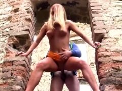 Hot Blonde Angel Fucked Standing Up