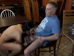 Old man young blonde couch first time Can you trust your