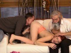 Old man young blonde couch and dick step daddy Unexpected