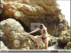 Exotic girl on the rocks  FM14