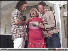BBW granny fucks two horny boys