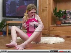 Tina using her glass dildo  FM14