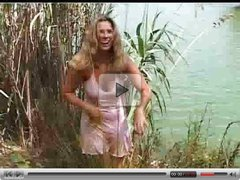 Calia naked by the lake  FM14