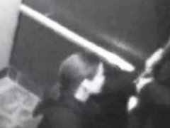 British Girl Swallows bf's cum in elevator cctv footage
