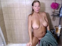 Monster Natural Big Boobs in Shower