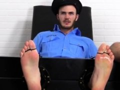 Gay male porn stars xxx Officer Christian Wilde Tickled