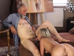 Old granny in park and bathing with step daddy Sexual