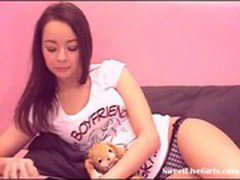 sweet brunette teen rubbing tight pussy(1).flv