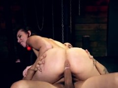 Rough painful abusive anal Best buddies Aidra Fox and