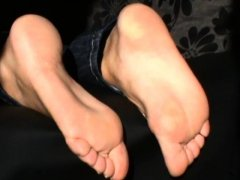 Bratty hot roommate foot humiliation jerk off instruction