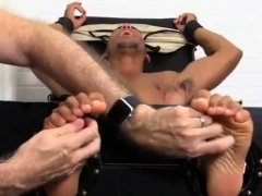 Male feet first gay Mikey Tickle d In The Tickle Chair