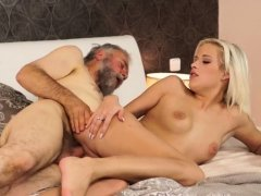 Old man and young sex girl fucks neighbor Surprise your