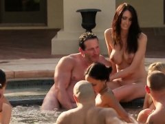Swingers get together by the poolside