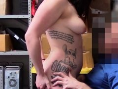 Tattooed Raven gets her body explored by horny officer