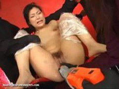 Chihiro Moans From Pain And Pleasure While Getting Drilled With Sextoys