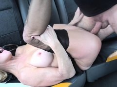 Fake Taxi Mature Milf gets her big pussy lips