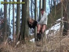 Horny Couple Caught Banging In The Woods