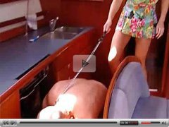 Valerie de Winter german milf and her slave assfuck on a boat troia