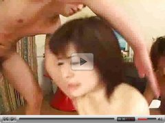 Japanese Girl in First Hot Anal and   DP ...F70