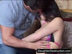 Daddy loves to stick his cock in young daughter
