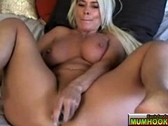 Warm and hot mom masturbate so good