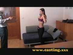 Casting - Beautiful teen brunette gets the fuck of her life