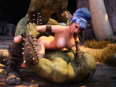 3D Elf Beauty Analed by Orcs!