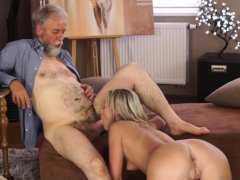 Blonde female bodybuilder and dad ally's daughter anal
