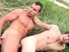 Men with hairy cock and ass gay porn Anal Sex by The Lake!