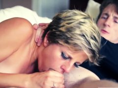 Rough hard double penetration anal and panties punishment