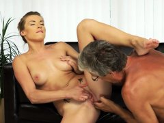 DADDY4K. Nice sex of dad and young girl ends with cumshot...